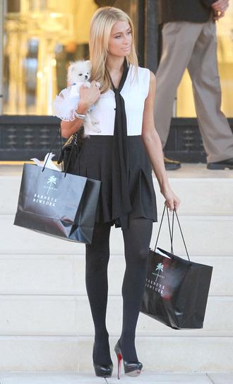 dress paris hilton black and white dress