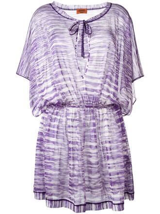 dress beach dress pleated beach women purple pink