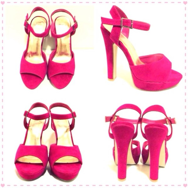 shoes fuchsia fuchsia pink heels pink pink high heels suede shoes suede heels love n lavish sandals cute high heels platform high heels sandles ankle strap ankle strap heels ankle strap heels ankle straps