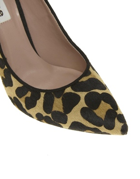 Dune   Dune Attar Leopard Print Pointed Court Shoes at ASOS