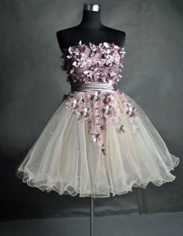 dress homecoming dress butterfly dress
