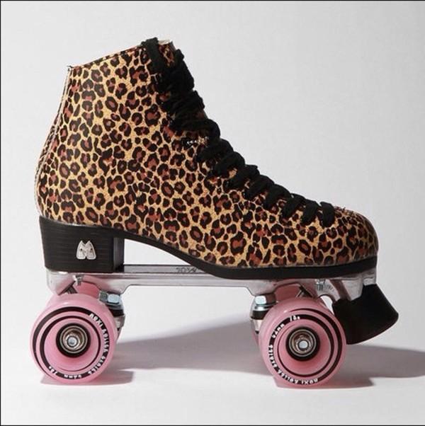 shoes animal print roller skates