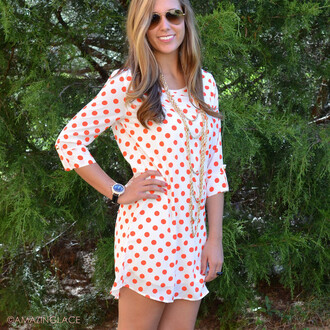 polka dots dotted spotted cute as a button polka dot dress red and white ivory fall dress shift dress button tabs amazing lace fall outfits fall style stylish trendy ootd