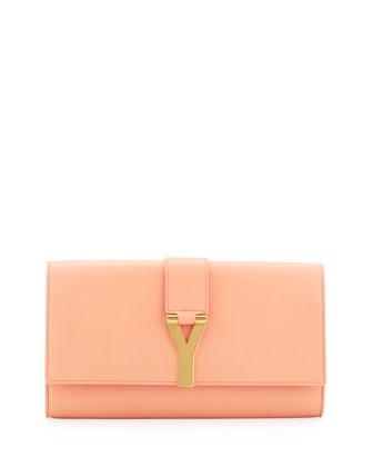 Saint Laurent Y Ligne Clutch Bag, Blush - Neiman Marcus