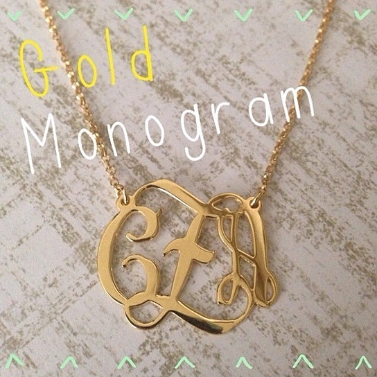 Gold Monogram Necklace from Libi and Lola