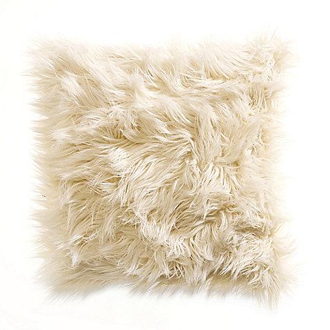 Kenneth Cole Reaction Home Landscape Faux-Fur Square Toss Pillow - BedBathandBeyond.com