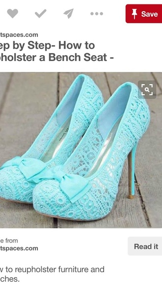 shoes teal lace