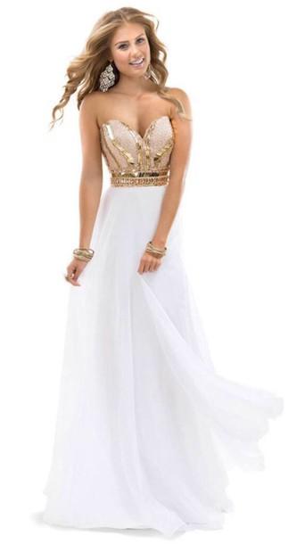 dress glitter sparkle white dress champange dress formal dress