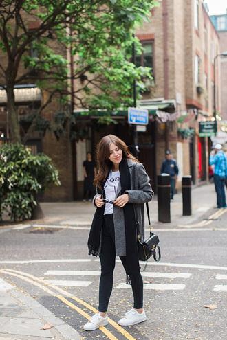 wish wish wish blogger coat t-shirt jeans shoes scarf bag