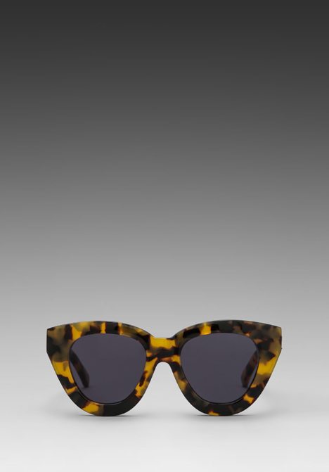 KAREN WALKER Anytime in Crazy Tortoise/Gold - Sunglasses & Eyewear