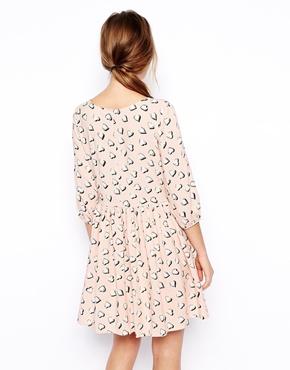 ASOS Petite | ASOS PETITE Exclusive Heart Print Smock Dress at ASOS