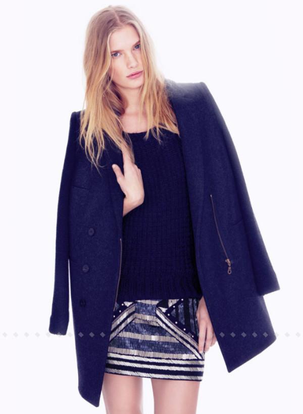 coat ba&sh fashion lookbook skirt