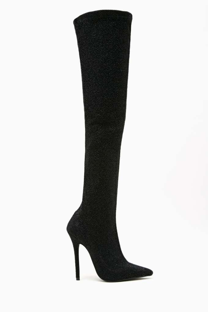 Jeffrey Campbell Kinki Thigh High Boot - Black in  What's New Shoes at Nasty Gal
