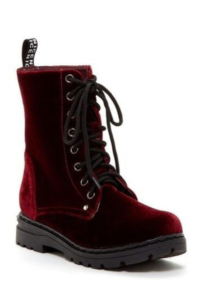shoes boots velvet shoes velvet kinderwhore vintage hipster punk