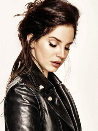 lana del rey leather jacket jacket blouse