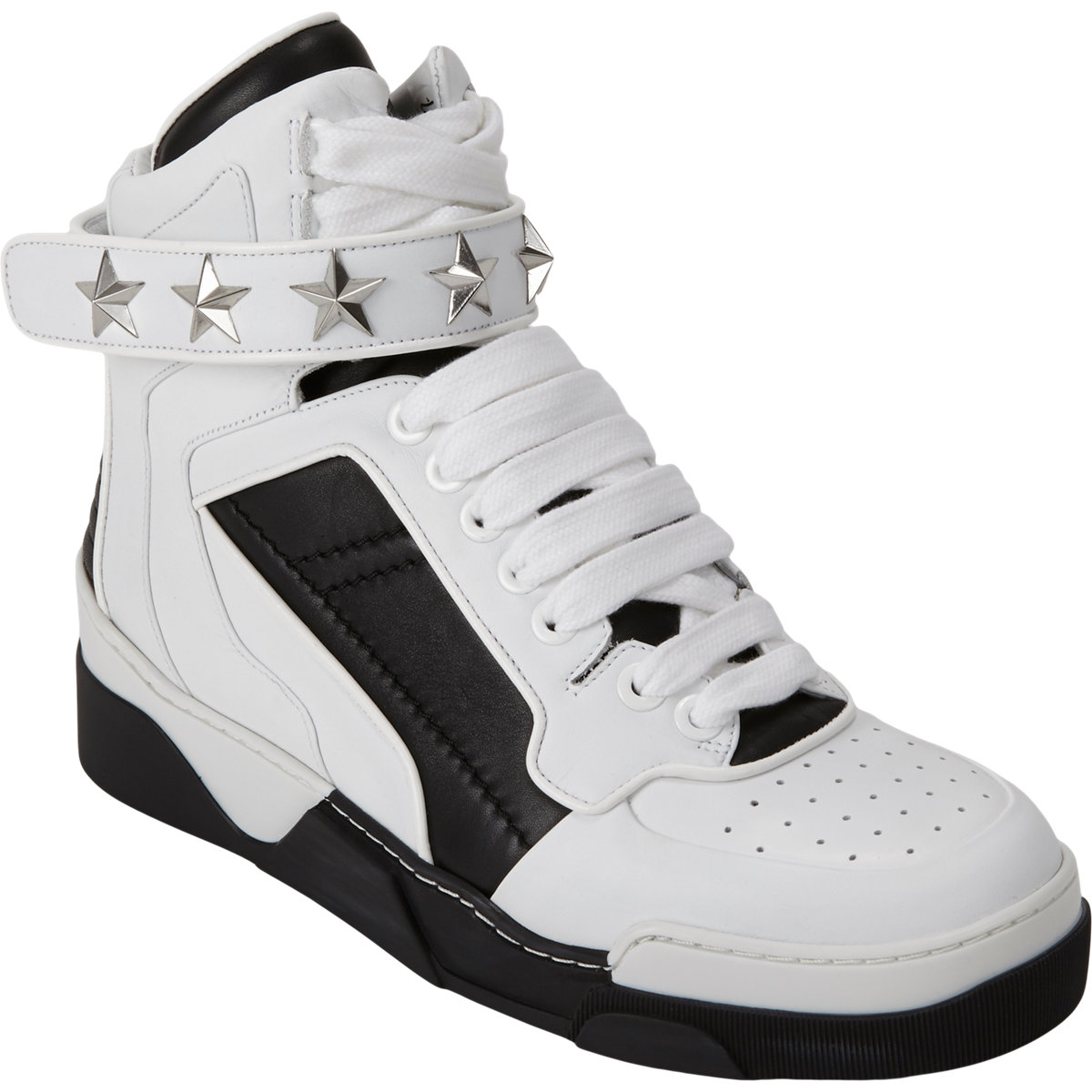 Givenchy High-top Star Ankle-strap Sneakers at Barneys.com
