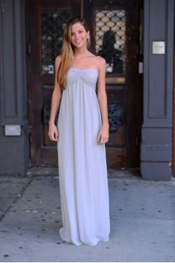 Grecian Gray Dress