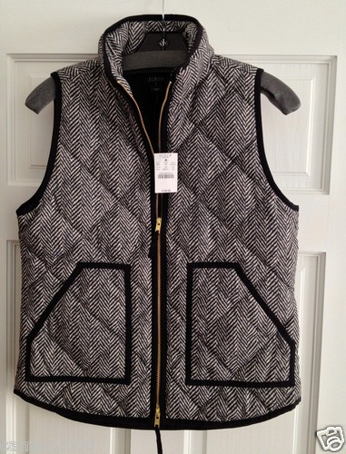 J Crew Factory Excursion Quilted Puffer Vest in Herringbone Size XS s M L | eBay