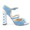 Luxury shoes - sky blue pointed toe classic heels