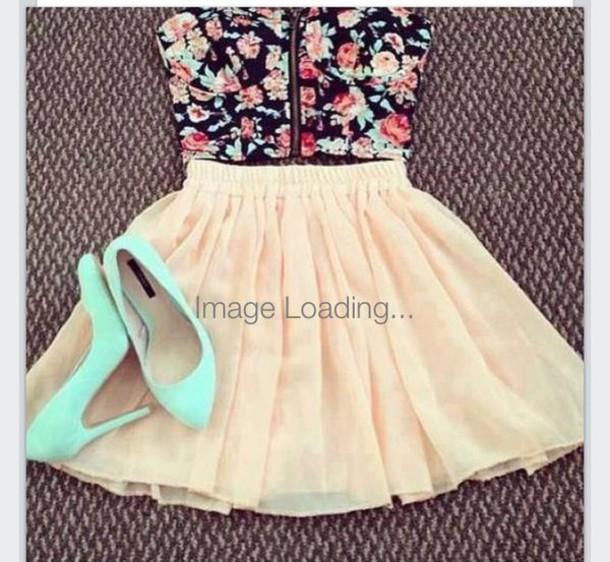 skirt croptopwithskirt