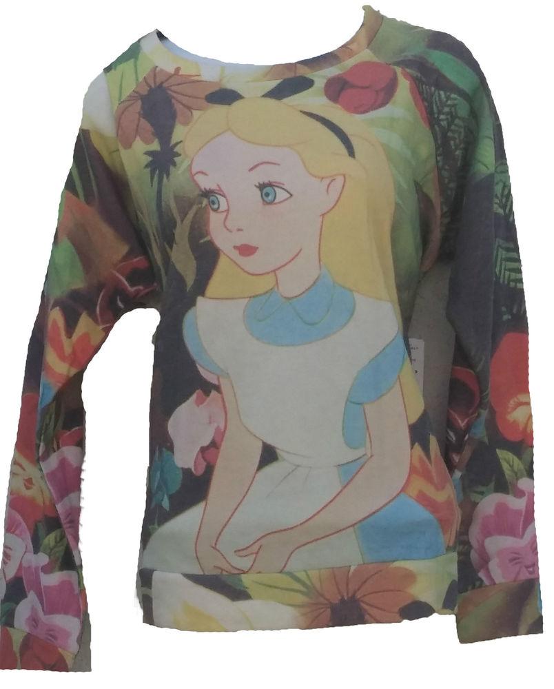 Forever 21 Alice in Wonderland Light Pullover Sweater Size Small | eBay