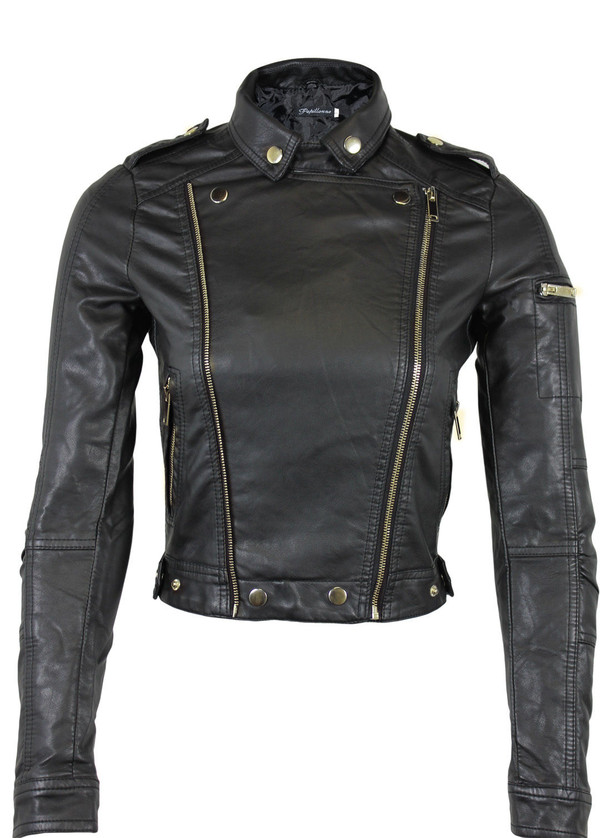 jacket pvc bomber jacket women girl casual trendy black wine green coat leather biker jacket cropped jacket double zipper