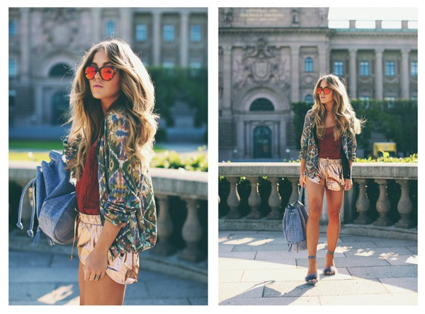 angelica blick jacket shorts shoes top