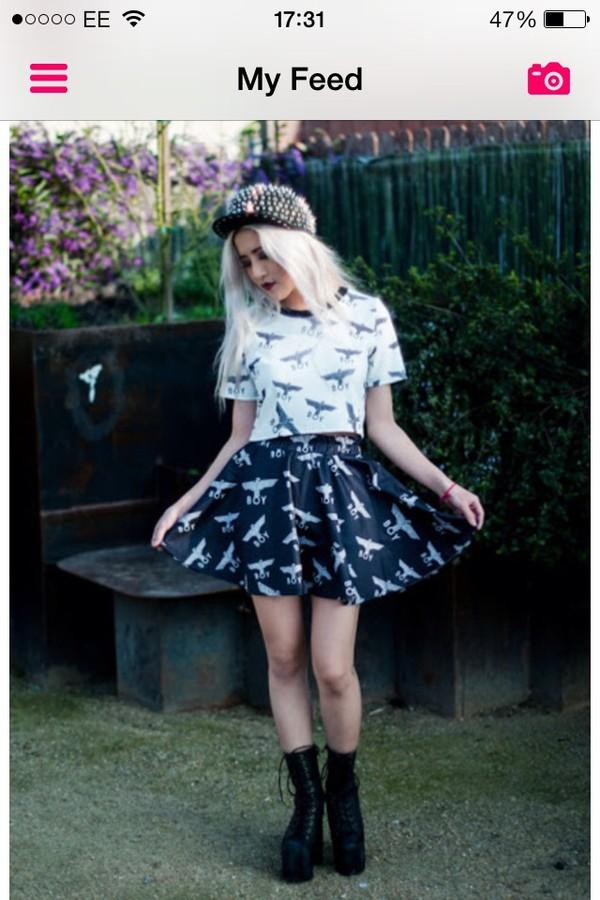 Boy London - Multi Logo Rara Skirt