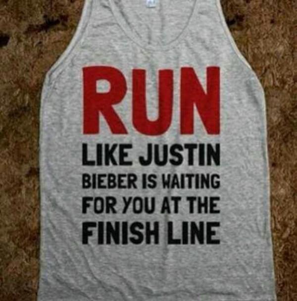 tank top finishline waiting justin bieber justin bieber running workout shirt