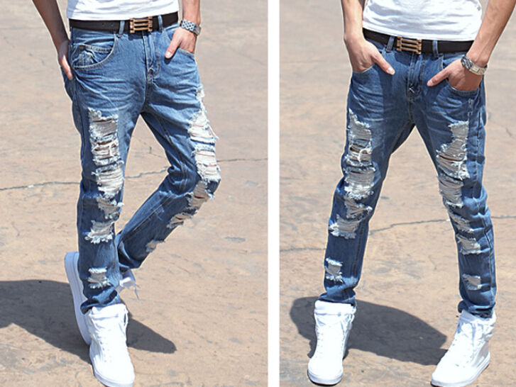 white tapered jeans - Jean Yu Beauty
