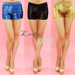 4pcs/lot mode voor vrouwen broek shorts dansvoorstelling pailletten kostuum sexy shorts hete broek