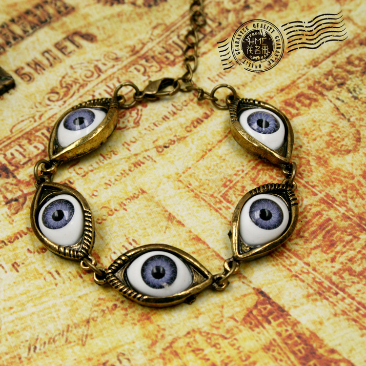 Wholesale Trendy Antique Jewelry Vintage Eyes Retro Bronze Punk Bracelet  JSB015-inCharm Bracelets from Jewelry on Aliexpress.com