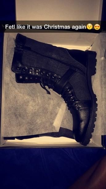 shoes boots black boots fashion