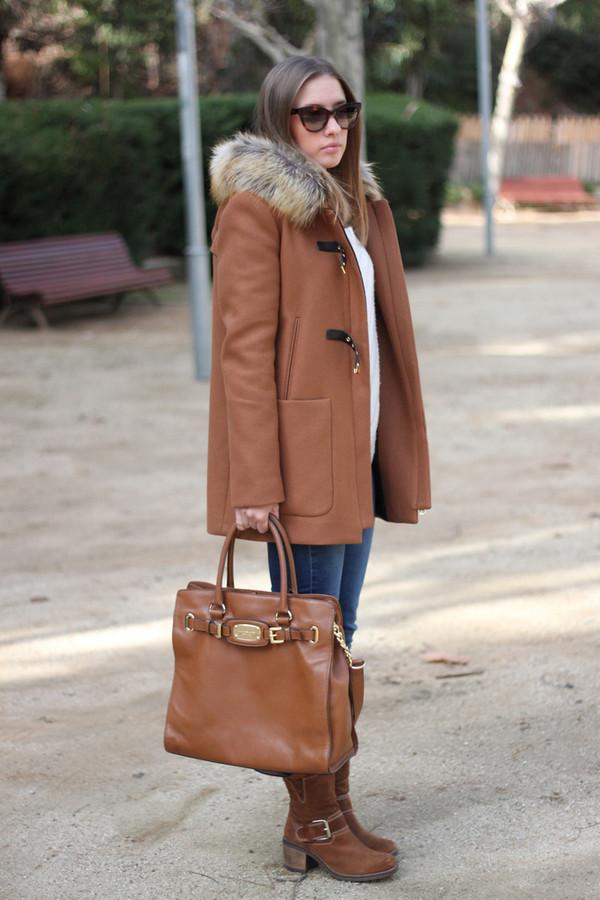say queen jeans sunglasses coat bag shoes