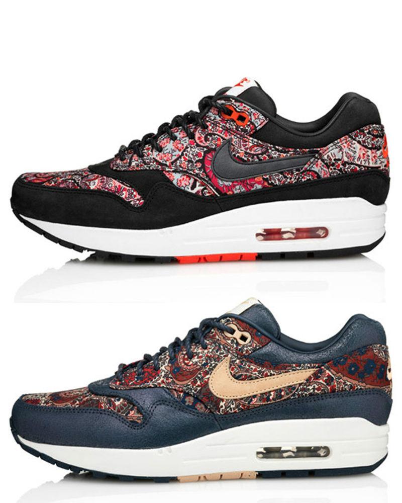 Nike Wmns Air Max 1 Lib QS Liberty London Red 540855 006 Navy 540855 402 90 95 | eBay