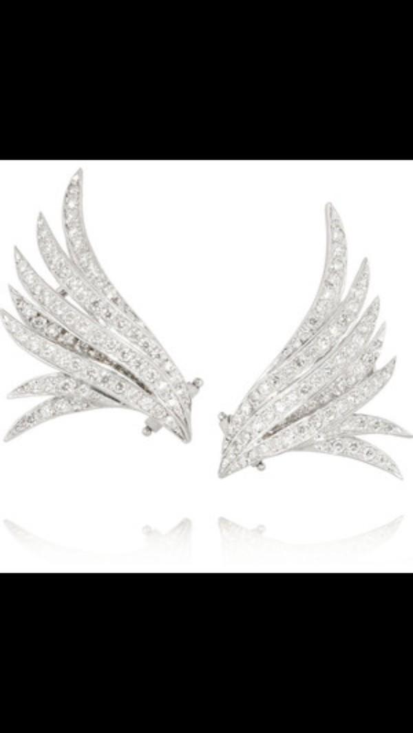 jewels earrings angel wing