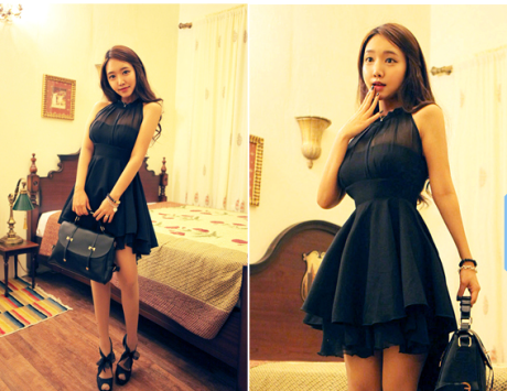 2013 Korea popular boutique waist slim fit dress / SuchCloth