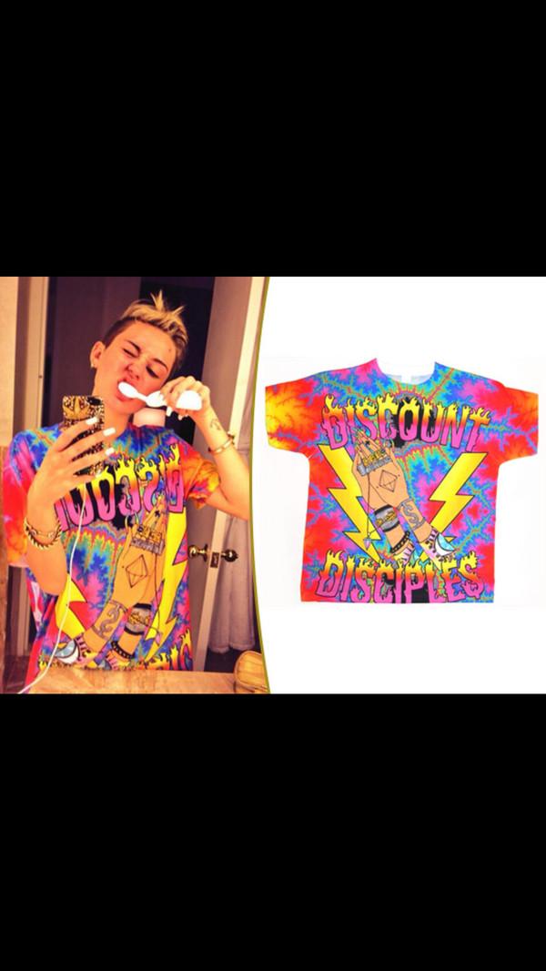 miley cyrus tie dye shirt