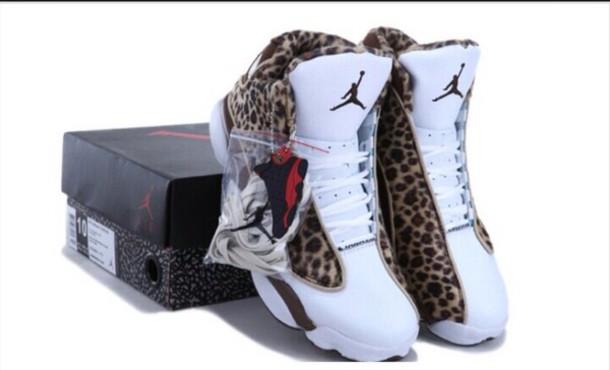 shoes leopar print jordans size 7 womens
