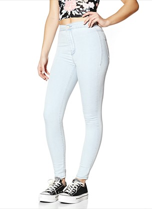 Monday Morning Roller Jeggings - Roller Ultra High Waist Jeggings - Garage