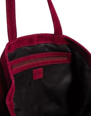 ASOS | ASOS Leather Tote Bag With Embossed Snake Panel at ASOS