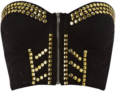 Ginger Fizz Studded bustier top - Polyvore