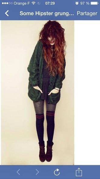 cardigan vert grunge grunge cardigan gilet gilet long