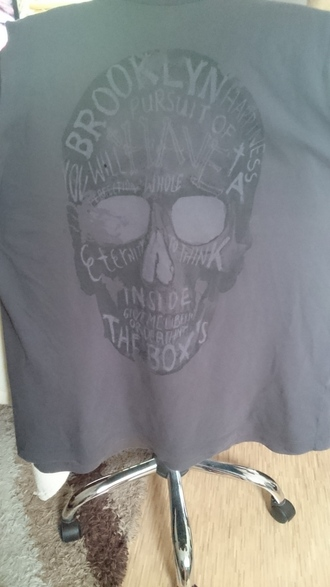 top baggy t shirt oversized t-shirt skull