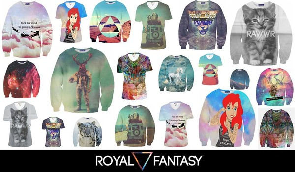 blouse the little mermaid swag galaxy print printed sweater sweatshirt tank top t-shirt neverland deer owl science tiger kittycat cats raww llama unicorn