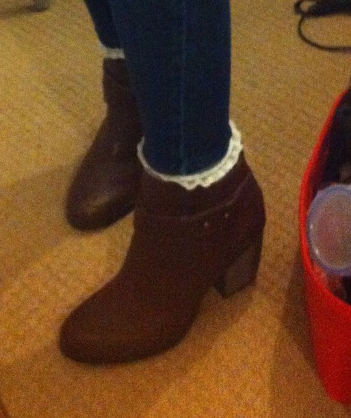 shoes brown high heel ankle boots