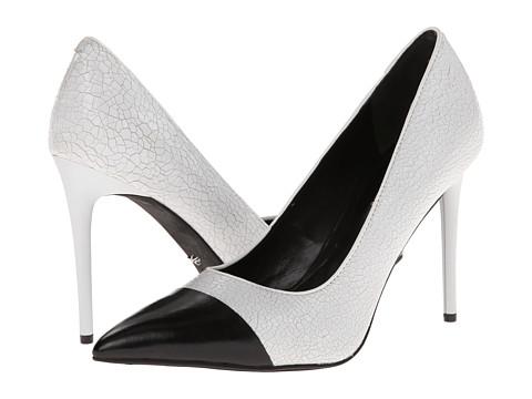 Kenneth Cole New York Bon-Ita White/Black Leather - Zappos.com Free Shipping BOTH Ways