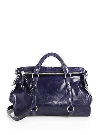 Miu Miu - Vitello Lux Large Bow Bag - Saks.com