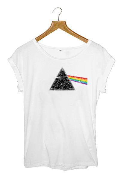 Dark Side of The Moon Pink Floyd Distressed Print Womens Tunic T Shirt | eBay