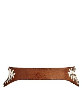 ASOS | ASOS Leather Whip Stitch Wide Waist Belt at ASOS